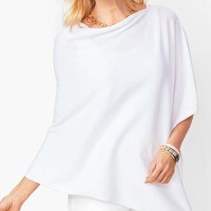 Talbots Asymmetric Poncho in white